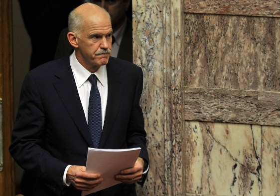 Image: Greek PM George Papandreou