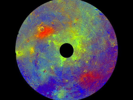 Image: Vesta in exaggerated color