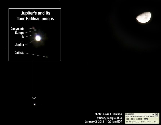 Image: Jupiter's Galilean moons