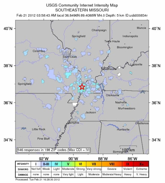 Image: Missouri quake graphic