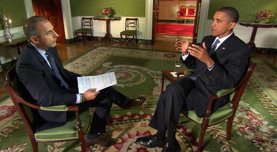 Image: Barack Obama, Matt Lauer