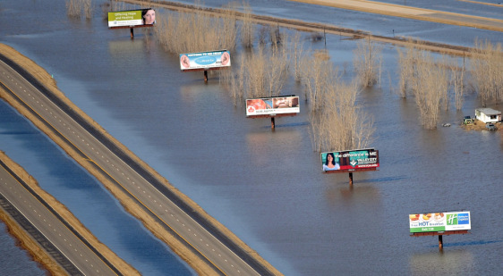 Image: Red River floodwaters