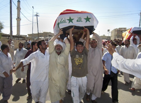 Image: Funeral in Fallujah after raid