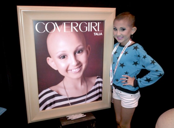 Image: Talia Castellano, teenager with cancer who became a CoverGirl model