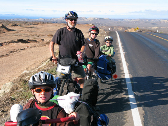Image: McFerrin family on bikes in Mexico
