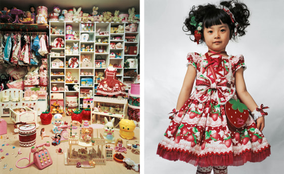 Image: 4-year-old Kaya in her bedroom in Tokyo, Japan