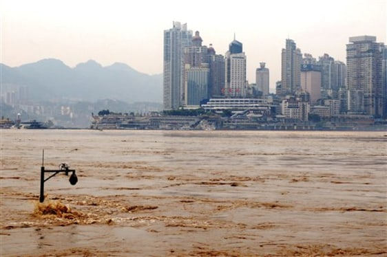 Image: Flooded Yangtze River