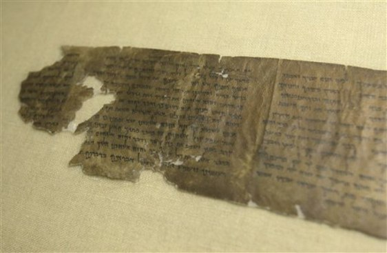 Image: Portion of Dead Sea Scrolls