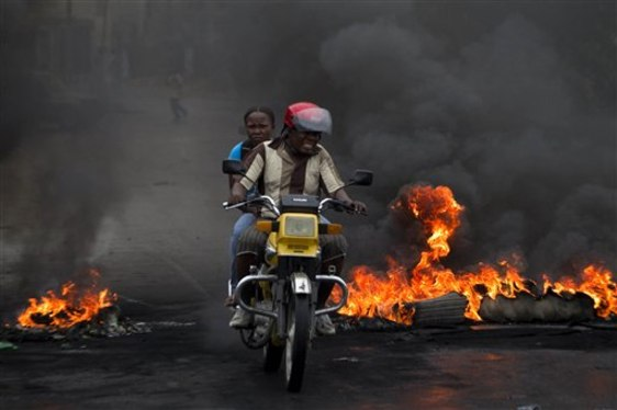 Haiti burning