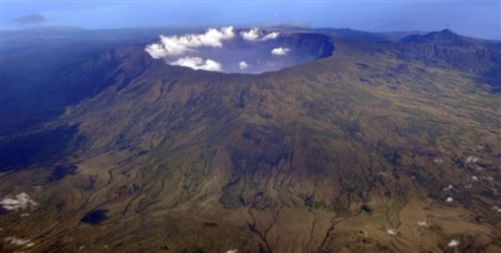 Image: Aerial photo of Indonesia's Mount Tambora