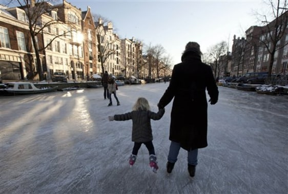 Image: Ice skaters