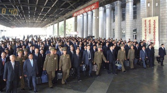 Image: Delegates to the North Korea's Worker's Party meeting