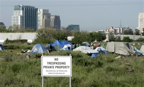 Image: Calif. homeless camp