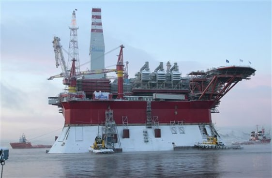 Image: Floating oil platform