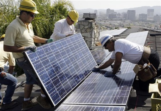 Image: Solar panels on rooftop