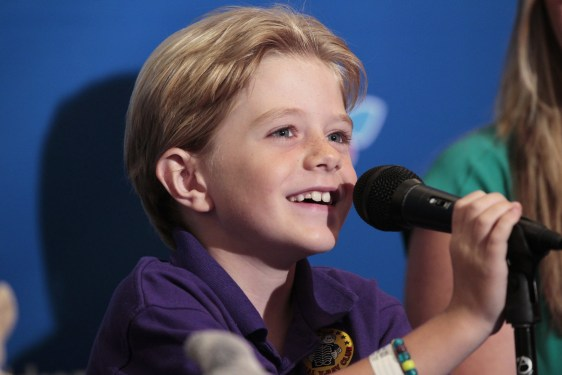 Image: Actor Max Page speaks at news conference at Children's Hospital Los Angeles