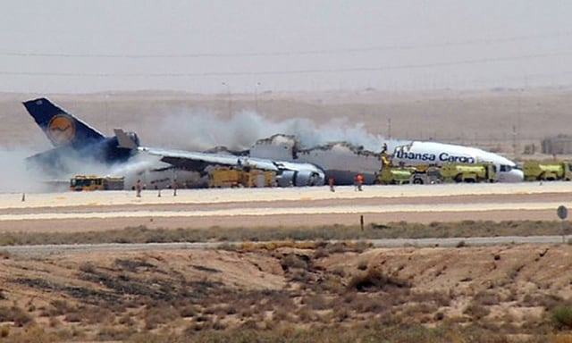 Image: Cargo plane accident in Riyadh