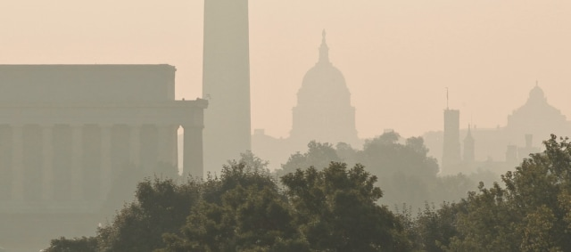 Image: Smog over Washington, D.C.