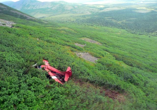 Image: Aircraft accident site near Aleknagik, Alaska