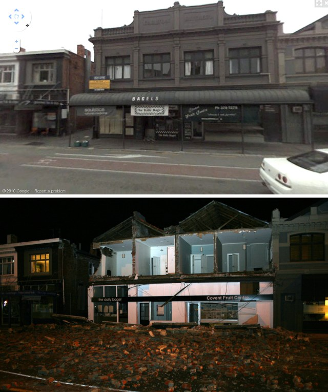 Image: Earthquake damage in Christchurch, New Zealand