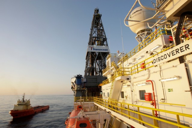 Image: Transocean's ultra-deepwater drillship Discoverer Inspiration in the Gulf of Mexico