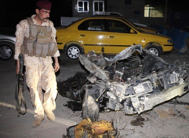Image: Debris from car bomb