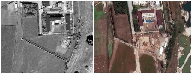 Image: The Yongbyon nuclear complex in 2008 and 2010