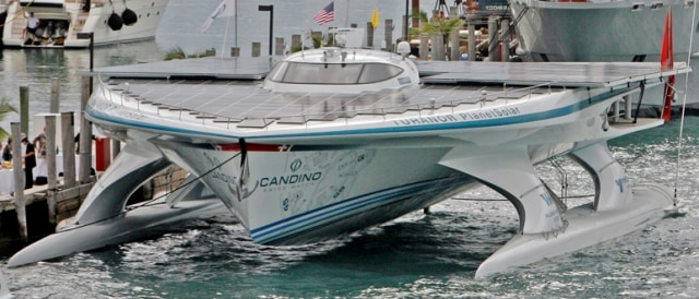 Image: Solar-powered boat