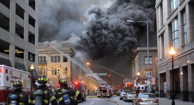 Image: Fire scene
