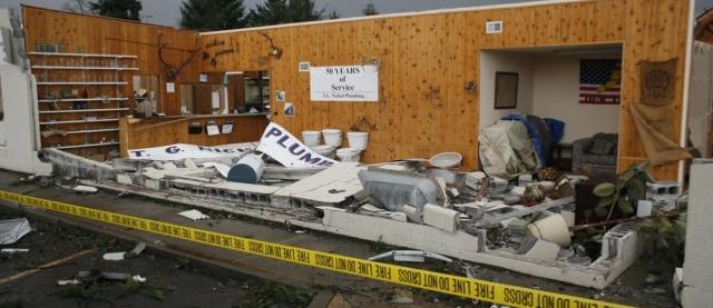 Image: Damaged plumbing store