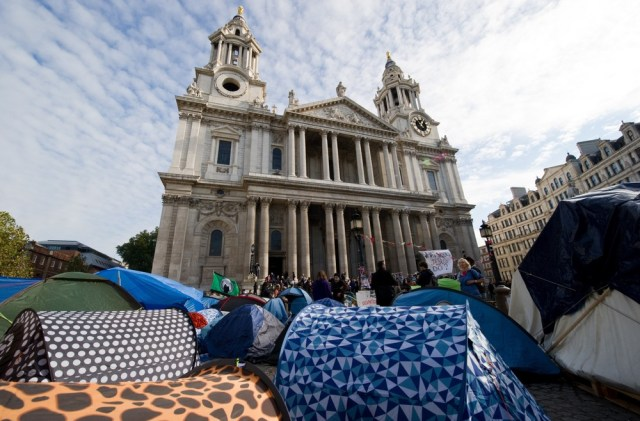 Image: Tents outside cathedral