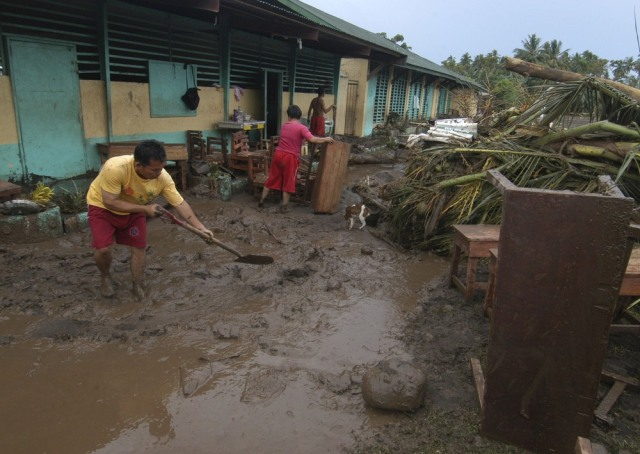 Image: Muddy school