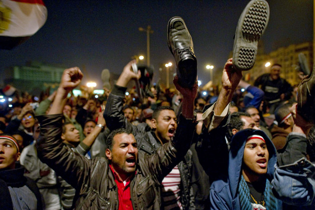 Image: Egyptian anti-government demonstrators