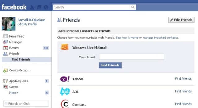 Image: Facebook screen
