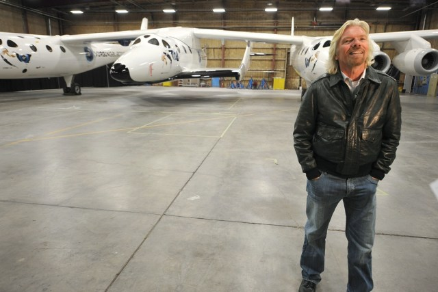 Image: Richard Branson and SpaceShipTwo