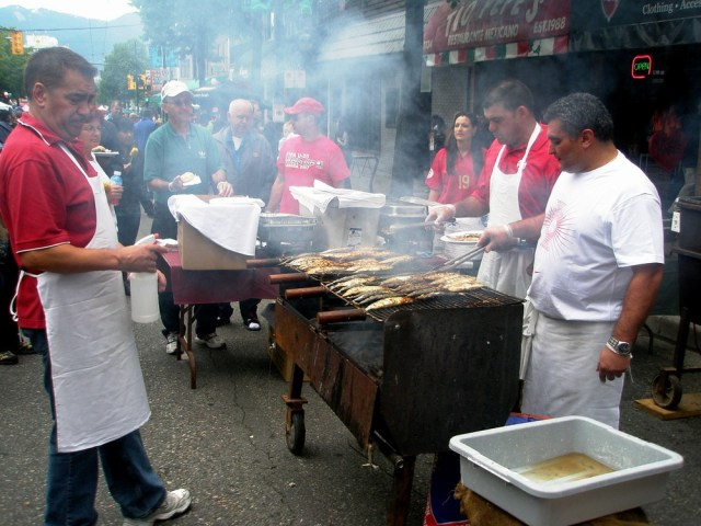 Image: Street vendors in Vancouver