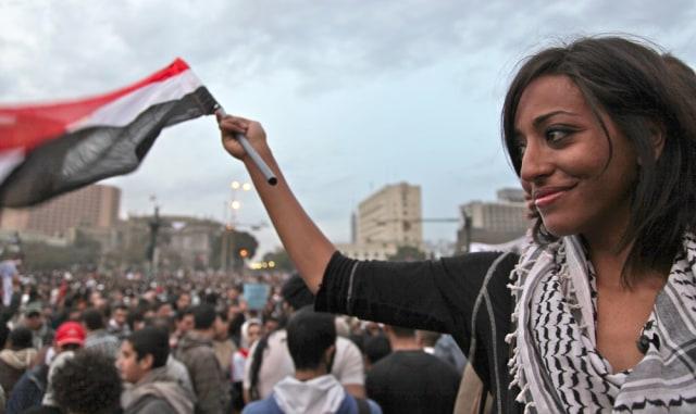 Image: Egyptian protester Jihan Ibrahim