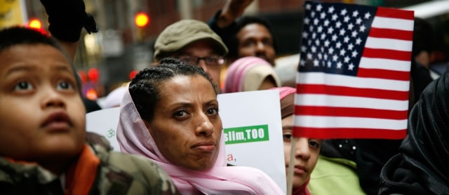 Image: Pro-Muslim rally in Times Square