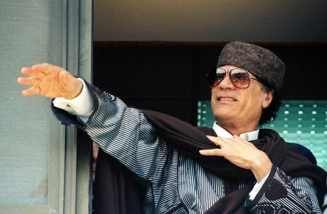Image: Moammar Gadhafi in 1996