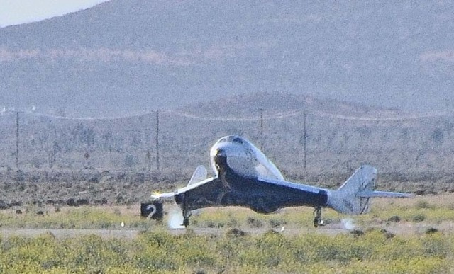 Image: SpaceShipTwo touchdown