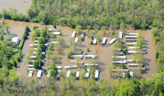 Image: Flooded mobile home park