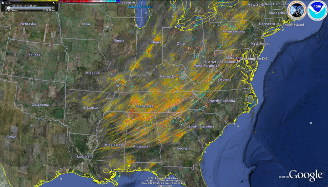 Image: Map of tornado paths