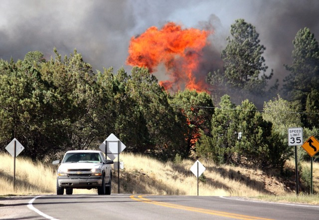 Image: Fire near Mayhill, New Mexico