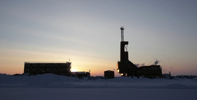 Image: File photo of a drilling rig in Alaska