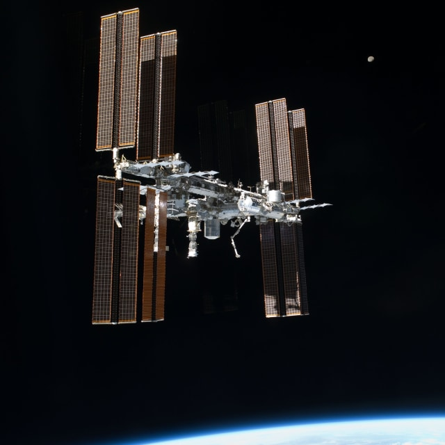 Image: Station and moon