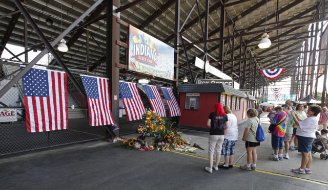 Image: Memorial at Indiana State Fair
