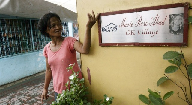 Image: Sign for Marie Rose Abad Villlage in Manila