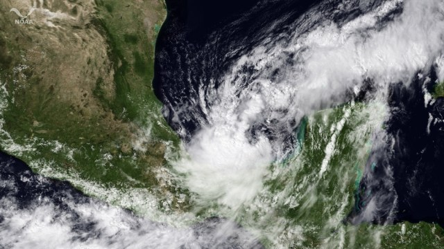 Image: Tropical Storm Nate passes near Yucatan Peninsula