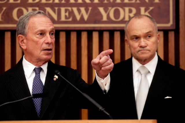 Image: New York Mayor Michael Bloomberg, Police Commissioner Raymond Kelly