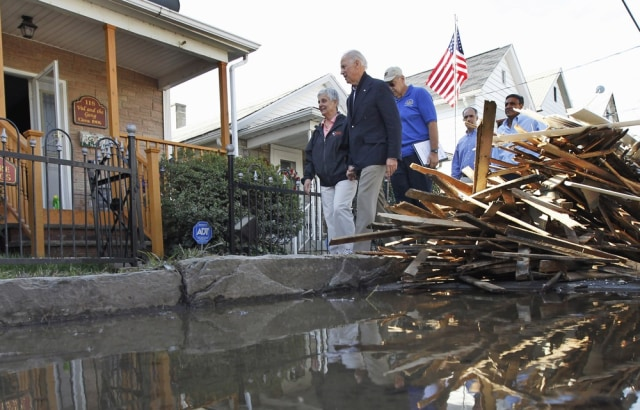Image: Vice President Biden at damaged home